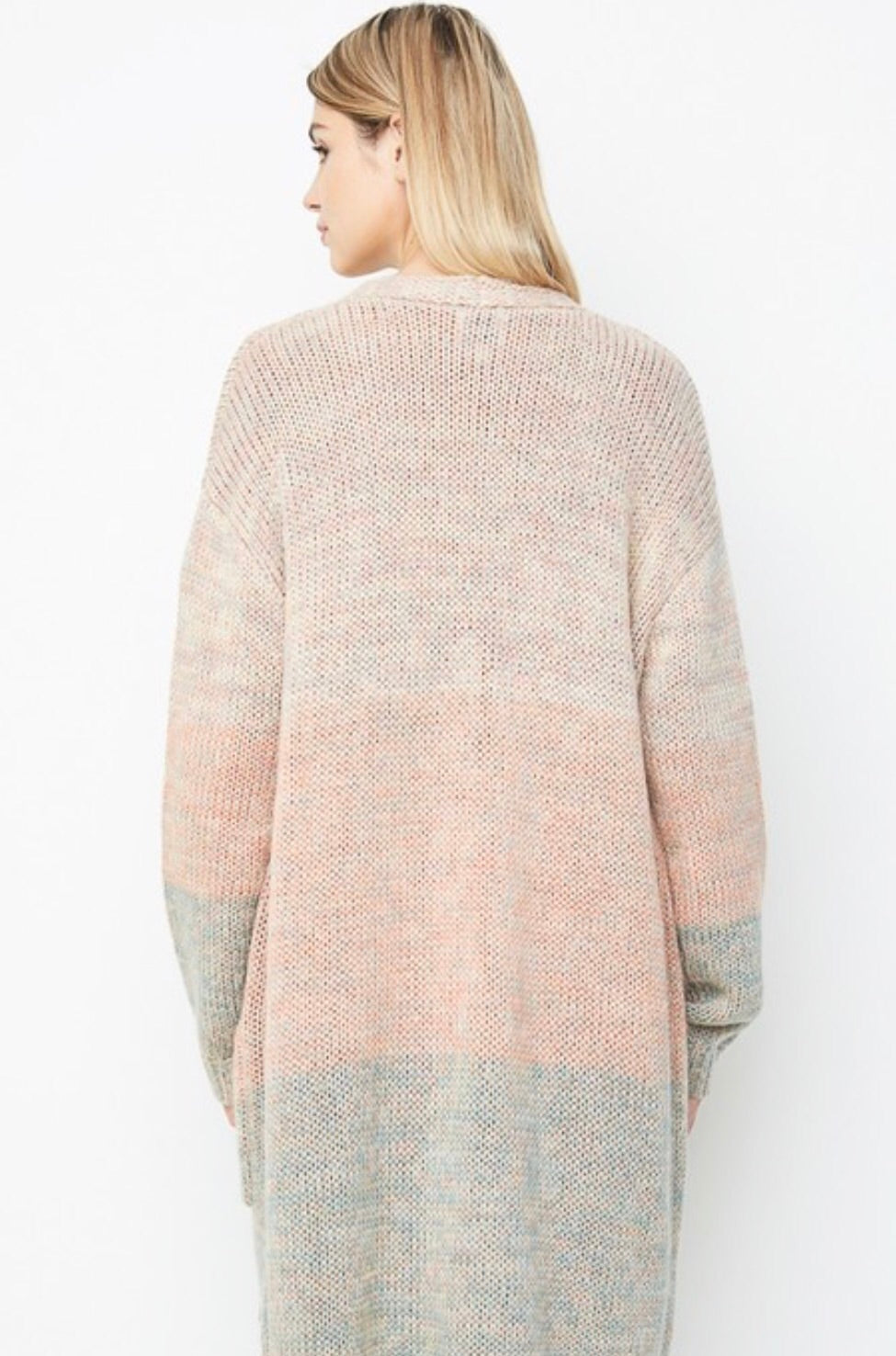 Umbre Sweater Cardigan Pastel