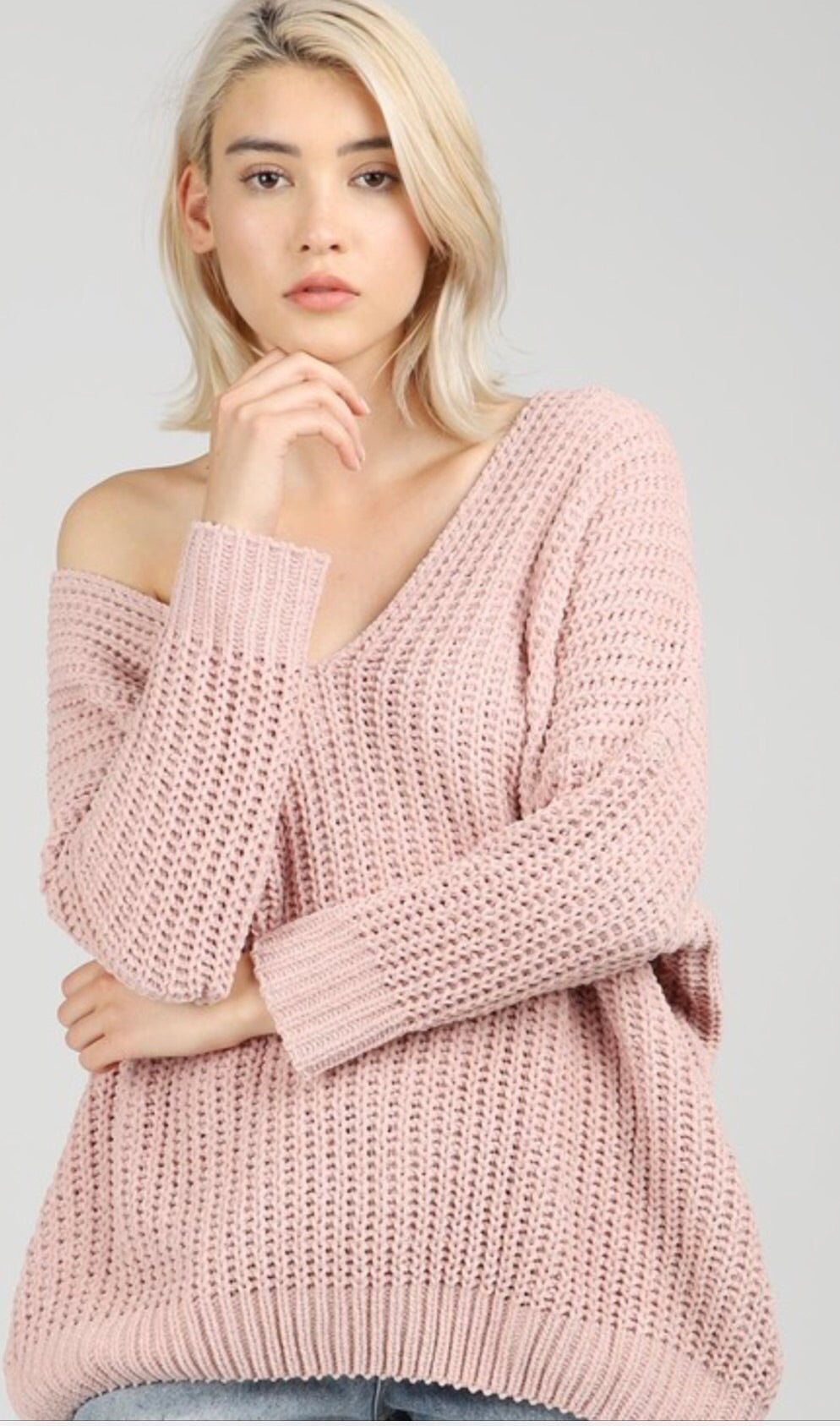 Oversized Off Shoulder Sweater