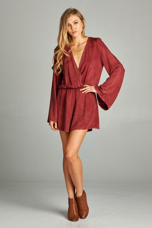 Peppermint Crimson Mineral Wash Romper