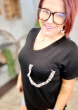 Shimmer Mauve Stripes Knit Tunic