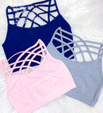 Triple Crisscross Bralette {Multiple Colors Available} {ONLINE ONLY}*