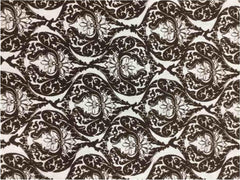 Chocolate Brown Paisley   , 100% LINEN 7 OZ ,56