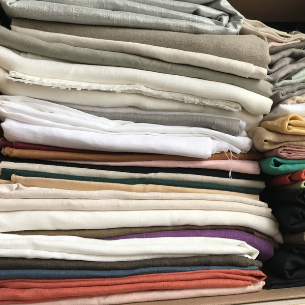 Assorted Linen Fabrics. B- 100% Linen. 56 Inch Wide | Extra Soft) Solid| By Linen Fabric Store Online