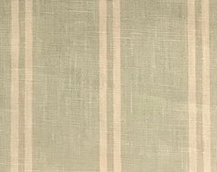 Berlin Jade Green 9 Stripes 100% Linen  (Medium/Heavy Weight | 56 Inch Wide| ) Promotional Collection
