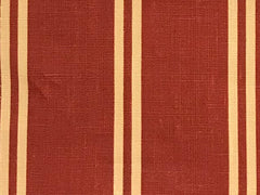 Berlin Red 1 Stripes 100% Linen  (Medium/Heavy Weight | 56 Inch Wide| ) Promotional Collection