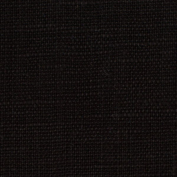 SAMPLE - Belgian Black 1 - 100% Linen 7.5 Oz (Medium Weight | 56 Inch Wide | Extra Soft) Solid | By Linen Fabric Store Online