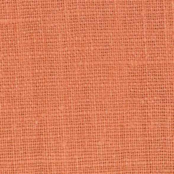 Belgian Orange 2 - 100% Linen 7.5 Oz (Medium Weight | 56 Inch Wide | Extra Soft) Solid