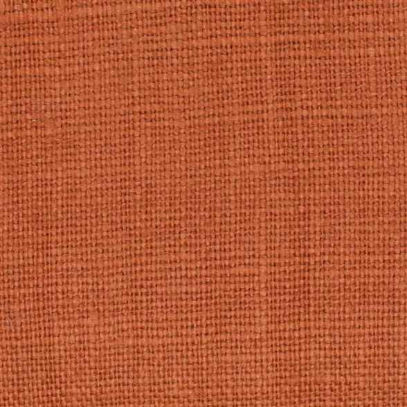 Belgian PW Orange 4 -100% Linen 7.5 Oz (Medium Weight | 56 Inch Wide | Pre Washed-Extra Soft) Solid