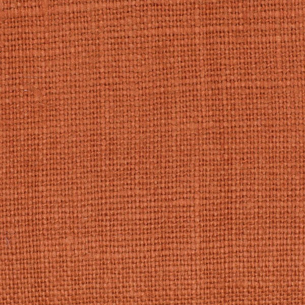 SAMPLE - Belgian Orange 4 - 100% Linen 7.5 Oz (Medium Weight | 56 Inch Wide | Extra Soft) Solid | By Linen Fabric Store Online