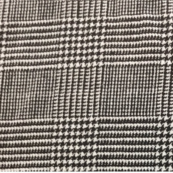 Black and White Plaid 100% Linen (Light/Medium Weight | 56 Inch Wide| )