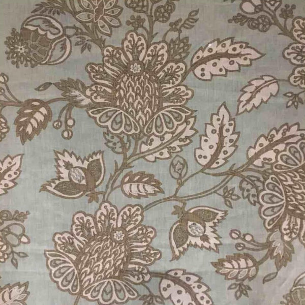 China Plum Print-On Belgian Blue 4-100% LINEN 7.5 OZ ,56