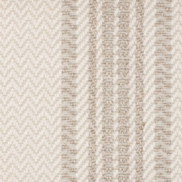 SAMPLE - Denmark Natural Brown Off White 1 - 100% Linen 14.5 Oz (Heavy Weight | 59 Inch Wide | Medium Soft) Burlap