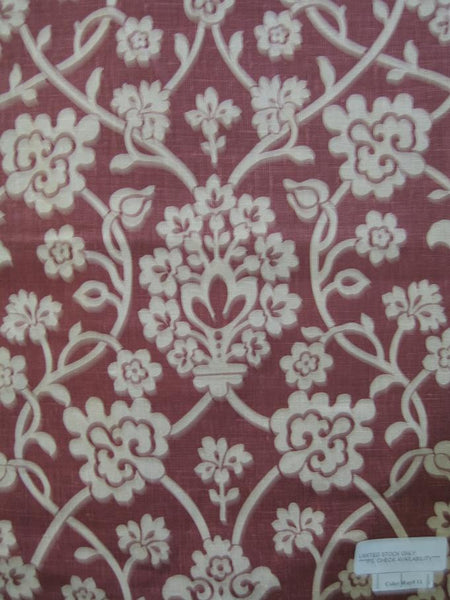 SAMPLE - Damask Red 1