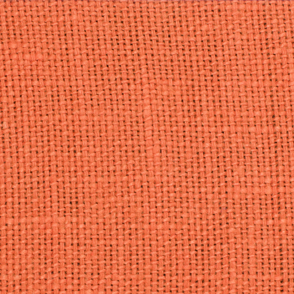 SAMPLE - French Orange 1 - 100% Linen 8.5 Oz (Medium Weight | 56 Inch Wide | Medium Soft) Solid