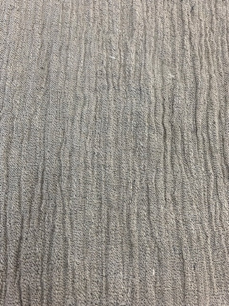 Gauze Grey 2-95% Linen-5% Polyester 4.0 OZ. (Light Weight-53 Inch Wide | Extra Soft) Solid| By Linen Fabric Store Online