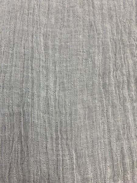 Gauze Light Grey 1-95% Linen-5% Polyester 4.0 OZ. (Light Weight-53 Inch Wide | Extra Soft) Solid| By Linen Fabric Store Online