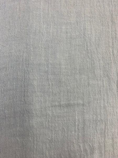 Gauze White 1-95% Linen-5% Polyester 4.0 OZ. (Light Weight-53 Inch Wide | Extra Soft) Solid| By Linen Fabric Store Online