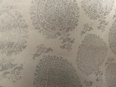 Damask Print-Belgian Off White 1-100% LINEN 7 OZ ,56