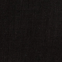 SAMPLE - Irish Black 1 - 100% Linen 5.5 Oz (Light/Medium Weight | 56 Inch Wide | Pre Washed-Extra Soft) Solid