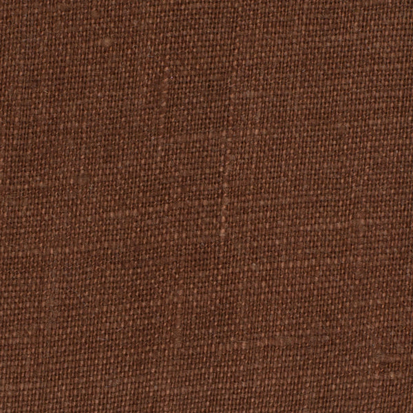 SAMPLE - Irish Brown 7 - 100% Linen 5.5 Oz (Light/Medium Weight | 56 Inch Wide | Pre Washed-Extra Soft) Solid