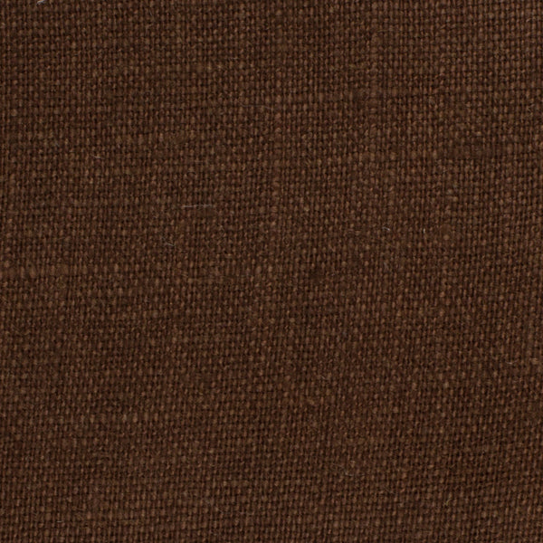 SAMPLE - Irish Chocolate Brown 8 - 100% Linen 5.5 Oz (Light/Medium Weight | 56 Inch Wide | Extra Soft) Solid