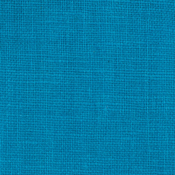 SAMPLE - Irish Cyan Blue 7 - 100% Linen 5.5 Oz (Light/Medium Weight | 56 Inch Wide | Extra Soft) Solid