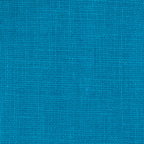 Promotional End Cut-Irish- Cyan Blue 7- Fabric 100% Linen 5.5 Oz (Light/Medium Weight | 56 Inch Wide | Pre Washed-Extra Soft)