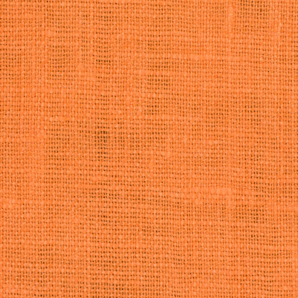 SAMPLE - Irish Orange 2 - 100% Linen 5.5 Oz (Light/Medium Weight | 56 Inch Wide | Extra Soft) Solid