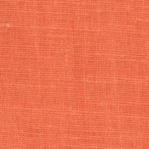 SAMPLE - Irish Orange 3 - 100% Linen 5.5 Oz (Light/Medium Weight | 56 Inch Wide | Extra Soft) Solid