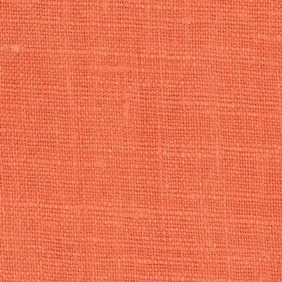 Irish Orange 3 - 100% Linen 5.5 Oz (Light/Medium Weight | 56 Inch Wide | Pre Washed-Extra Soft) Solid