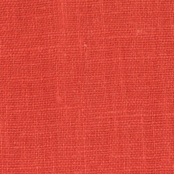 SAMPLE - Irish Orange 4 - 100% Linen 5.5 Oz (Light/Medium Weight | 56 Inch Wide | Pre Washed-Extra Soft) Solid