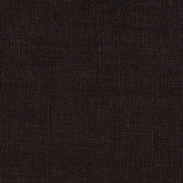 SAMPLE - Italy Black 1 - 100% Linen 3.5 Oz (Light/Medium Weight | 56 Inch Wide | Pre Washed-Extra Soft) Solid | By Linen Fabric Store Online