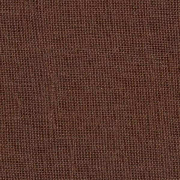 SAMPLE - Italy Brown 2 - 100% Linen 3.5 Oz (Light/Medium Weight | 56 Inch Wide | Extra Soft) Solid | By Linen Fabric Store Online
