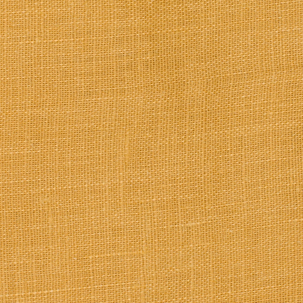 SAMPLE - Italy Gold 3 - 100% Linen 3.5 Oz (Light/Medium Weight | 56 Inch Wide | Pre Washed-Extra Soft) Solid | By Linen Fabric Store Online