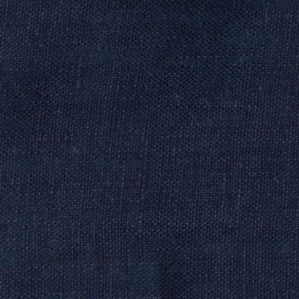SAMPLE - Italy Navy Blue 6 - 100% Linen 3.5 Oz (Light/Medium Weight | 56 Inch Wide | Pre Washed-Extra Soft) Solid | | By Linen Fabric Store Online By Linen Fabric Store Online