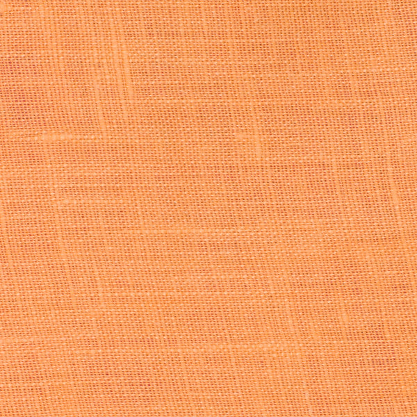 SAMPLE - Italy Orange 1 - 100% Linen 3.5 Oz (Light/Medium Weight | 56 Inch Wide | Pre Washed-Extra Soft) Solid | By Linen Fabric Store Online