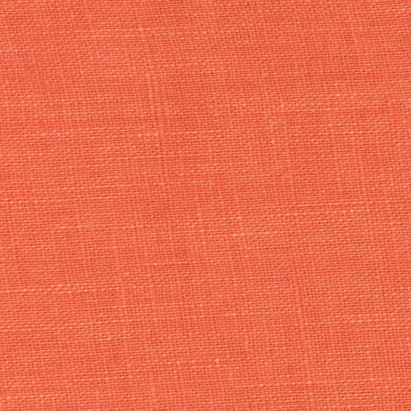 SAMPLE - Italy Orange 2 - 100% Linen 3.5 Oz (Light/Medium Weight | 56 Inch Wide | Extra Soft) Solid | By Linen Fabric Store Online