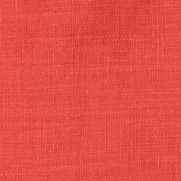 SAMPLE - Italy Red 1 - 100% Linen 3.5 Oz (Light/Medium Weight | 56 Inch Wide | Pre Washed-Extra Soft) Solid | By Linen Fabric Store Online