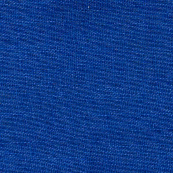 SAMPLE - Italy Royal Blue 5 - 100% Linen 3.5 Oz (Light/Medium Weight | 56 Inch Wide | Extra Soft) Solid | By Linen Fabric Store Online