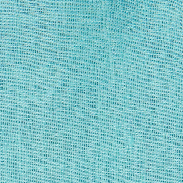 SAMPLE - Italy Turquoise Blue 2 - 100% Linen 3.5 Oz (Light/Medium Weight | 56 Inch Wide | Pre Washed-Extra Soft) Solid | By Linen Fabric Store Online