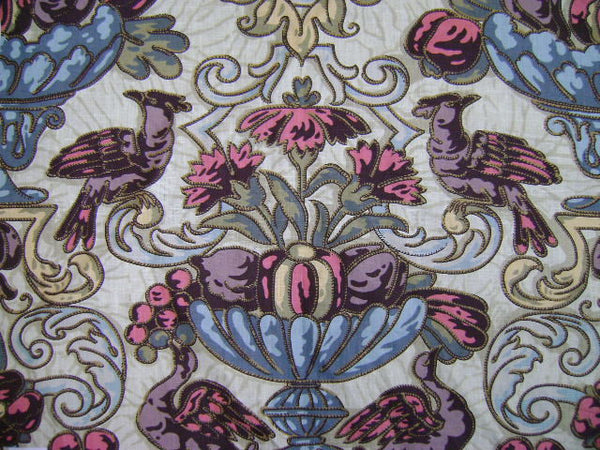 SAMPLE - Damask Eggshell Blues 1