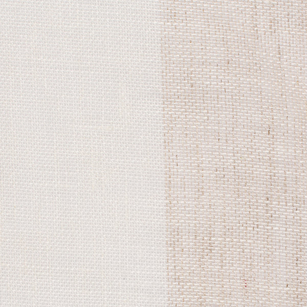 SAMPLE - Spain1 Natural Brown Off White 1 - 100% Linen 3.4 Oz (Light/Medium Weight | 114 Inch Wide | Medium Soft) Wide Width Yarn Dye