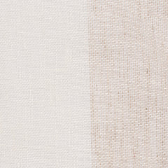 Spain1 Natural Brown Off White 1 - 100% Linen 3.4 Oz (Light/Medium Weight | 114 Inch Wide | Medium Soft) Wide Width Yarn Dye