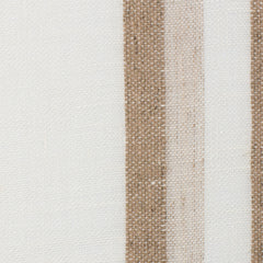 SAMPLE - Spain10 Natural Brown Off White 1 - 100% Linen 4.3 Oz (Light/Medium Weight | 114 Inch Wide | Medium Soft) Wide Width Yarn Dye