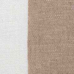 Spain11 Natural Brown Off White 1 - 100% Linen 5.3 Oz (Light/Medium Weight | 114 Inch Wide | Medium Soft) Wide Width Yarn Dye