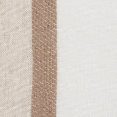 SAMPLE - Spain12 Natural Brown Off White 1 - 100% Linen 4 Oz (Light/Medium Weight | 114 Inch Wide | Medium Soft) Wide Width Yarn Dye