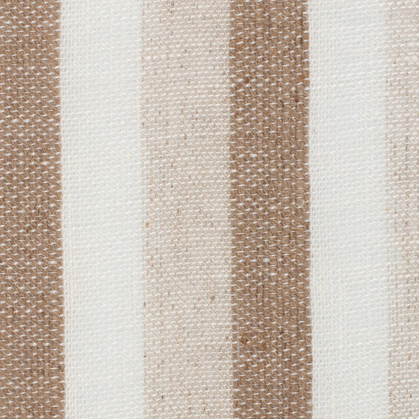SAMPLE - Spain13 Natural Brown Off White 1 - 100% Linen 5.3 Oz (Light/Medium Weight | 114 Inch Wide | Medium Soft) Wide Width Yarn Dye