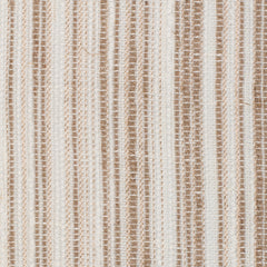 SAMPLE - Spain14 Natural Brown Off White 1 Linen Polyester 6 Oz (Medium Weight | 114 Inch Wide | Medium Soft) Wide Width Yarn Dye