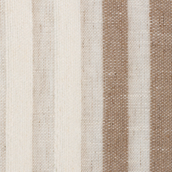 Spain15 Natural Brown Off White 1 Linen Polyester 5.5 Oz (Light/Medium Weight | 114 Inch Wide | Medium Soft) Wide Width Yarn Dye