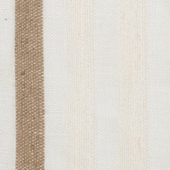 SAMPLE - Spain16 Natural Brown Off White 1 - 100% Linen 6 Oz (Medium Weight | 114 Inch Wide | Medium Soft) Wide Width Yarn Dye